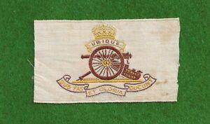 The ROYAL FIELD ARTILLERY RFA original 1915 WW1 Embroidered Silk Army Badge