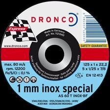 Trennscheiben Dronco 25 Stück Inox Ø125 mm Flexscheiben Edelstahl Metall 1 mm