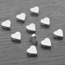10x Genuine 925 Sterling Silver 3D Heart Pendants (SCRAP From Workshop)