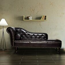 Antique Chaise Lounge Living Room Furniture Vintage Sofa Luxury Chair Seat Couch