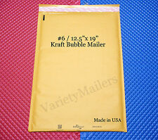 16 Extra Large Kraft Bubble Mailers #6 / 12.5x19 ~ Big Padded Envelopes