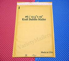 4 Ex-Large Kraft Bubble Envelopes #6 12.5