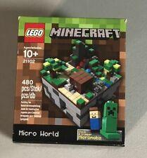 Lego 21102 Ideas Minecraft Micro world Steve & Creeper Mojang New in box