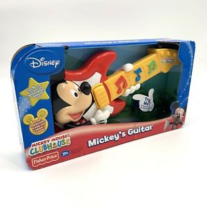 Mickey Mouse Clubhouse Mickey Guitar Toy w/ Sounds Disney Fisher Price NIB