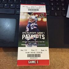 2016 NEW ENGLAND PATRIOTS VS KANSAS CITY CHIEFS PLAYOFFS TICKET STUB 1/16/