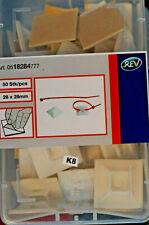 REV 50 x Befestigungssockel für Kabelbinder 28,5 x 28,5mm 0518284777
