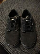 Van's Off The Wall Men's SZ 8.5  BLK Canvas Sneakers Skater Shoes 721365