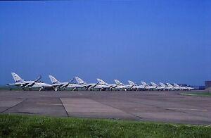 Original colour slide Tornado F.2 - 11 aircraft line-up of 229 OCU RAF