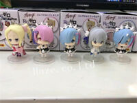 5Pcs/Set Re:Life in a Different World From Zero Ram Rem PVC  Keychain beautiful
