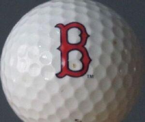 3 Dozen (Boston Red Sox RED LOGO) Top Flite Mint Golf Balls