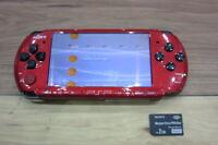 Sony PSP 3000 console RedxBlack w/2GB Memory stick Japan m796