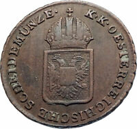 1816 AUSTRIA w Emperor Franz II Hapsburg Antique Kreuzer Austrian Coin i74822