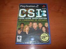 CSI: LAS 3 DIMENSIONES DEL ASESINATO PS2 (PAL ESPAÑA PRECINTADO)