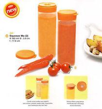 1 Set (2 Pcs) Squeeze Me Tupperware Orange Color for Ketchup, Sauce, Honey