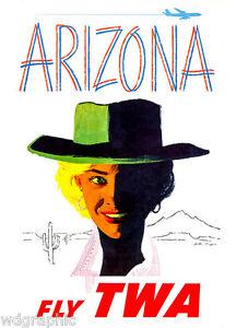 Arizona Vintage Air Travel Giclee Canvas Print 20x28