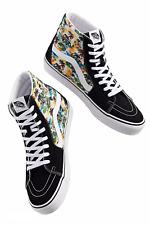 Vans Sk8-Hi (Aloha) Hawaii Canvas Suede Black Shoes Size 12 Men's NIB New ⭐️
