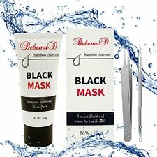 Blackhead Removal Peel Off Mask by Bebemad - Purifying Activated Bamboo Charcoal