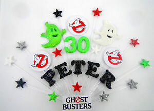Ghost busters personalised  birthday cake topper  (any name and age)