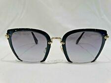 Miu Miu SMU 52R Square Blue and Gold Sunglasses