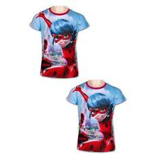 Miraculous Ladybug Mädchen Shirt Rot Größe 98-140