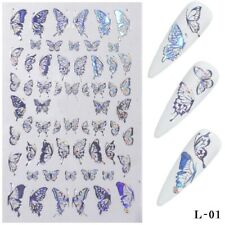 Holographic 3D Laser Butterfly Nail Art Stickers Butterflies Adhesive Decal DIY