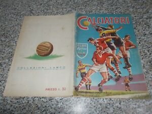 ALBUM CALCIATORI 1958 1959 LAMPO COMPLETO ORIGINALE MOLTO BUONO TIPO PANINI