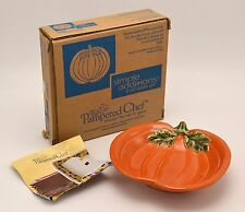 """NEW Pampered Chef Autumn Halloween Small 6"""" Pumpkin Candy Dip Dish Bowl"""