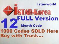 Istar Korea Code ONLINE TV One Year kod & 1 year Service ثقة ضمان مساعدة أصلي