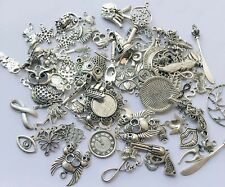 50g Random Mixed Tibetan Silver Spacers Bead Jewelry Findings Charms Pendant