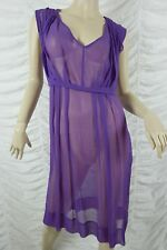 GITANE purple 100% silk sheer grecian draped dress size 10 BNWT