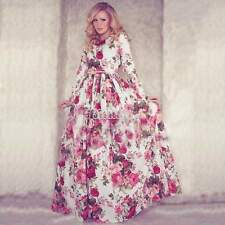 New Sexy Women Summer Boho Long Maxi Evening Party Vintage Dress Floral Sundress