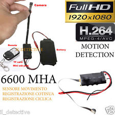 Spy Camera Spia FULL HD MOTION DETECTION TELECAMERA NASCOSTA MICROCAMERA