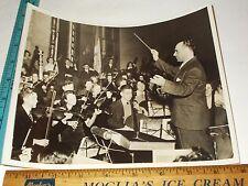 Rare Historical Original VTG 1937 Jose Iturbi NJ All-State HS Orchestra Photo
