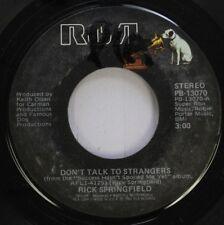 Rock 45 Rick Springfield - Don'T Talk To Strangers / Tonight On Rca