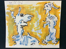 Expressionniste expressionnisme anonyme 1974 encre