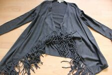 BODEN  dark  grey Fringed Cardigan size XS .  WU060
