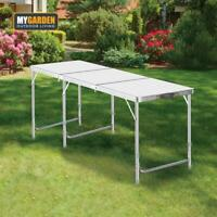 4/6FT Folding Aluminium Trestle Table Camping Market Stall Fete Fair Trade Shows