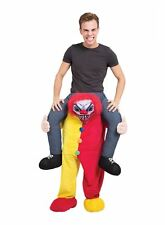 Piggy Back Scary Clown Halloween Horror Mascot Fancy Dress Costume Funny Outfit