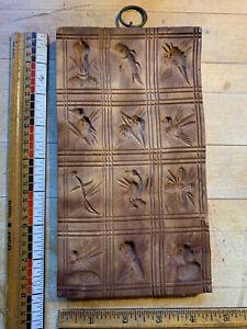 antique 19th c. German carved Cherrywood springerle speculoos cookie mold