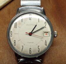 BOCTOK 17 Jewel USSR CCCP Russian Vintage Wristwatch W/ Speidel Band WORKS GREAT