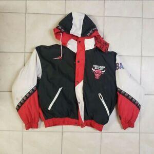 Vintage 90's Chicago Bulls NBA Puffer Jacket XXL Coat Pro Player Poor Condition