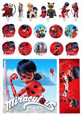Miraculous Ladybug Decoration Gateau Disque Azyme Comestible Anniversaire
