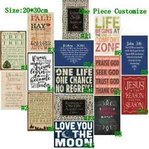 """One Life One Chance Retro Metal Tin Signs Poster Art Wall Decor 7.8*11.8"""""""