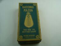 Antique National Mazda Box Contained 5 60W Bulbs 1917 National Lamp Works GE