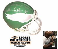 Philaelphia Eagles William Fuller Signed Autographed Mini Helmet Fly Eagles Fly