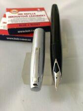 Sheaffer Imperial 440 Cepillo de Acero Negro FP acero fino nuevo + Convertidor +12 Gato Nuevo