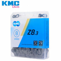 KMC Z8.3 Mountain Road Bike Bicycle Chain 6/7/8 Speed 116Links Silver Gray