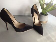 NEW PAUL ANDREW Shakti Gray Lizard Embossed Velvet POINTY  Heels PUMPS 7 7.5