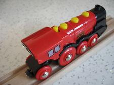 Brio Batteria Motorizzato Treno in Legno Rosso per Set pista treno (Brio Thomas)