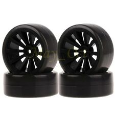 4x RC 1/10 Drift Car On Road Black 6mm Offset Wheel Rim & Tyres,Tires 601-6015